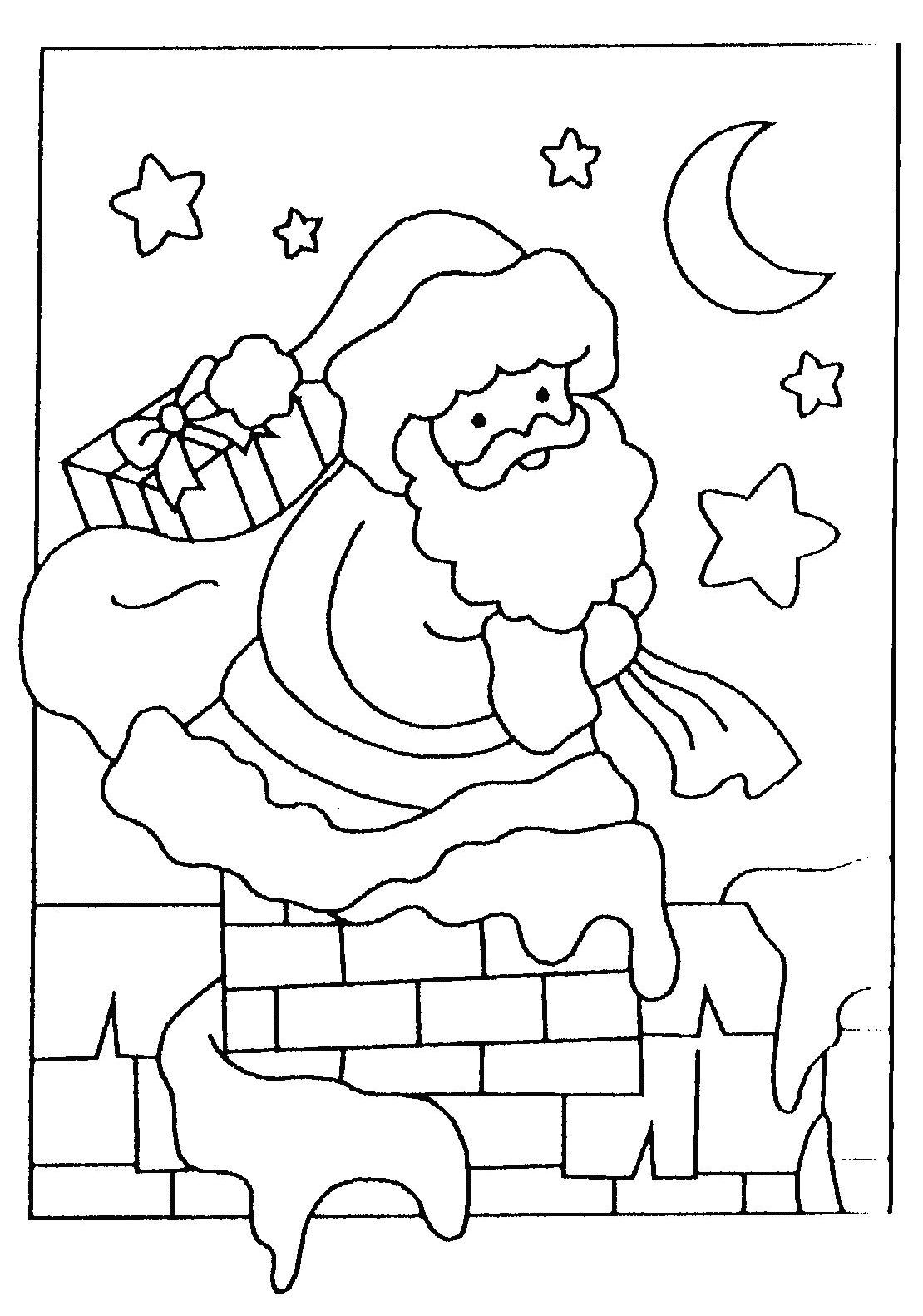 Coloriages De Noel Un Beau Noel